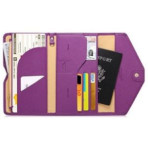 Handbags - NEW Plum Travel Wallet