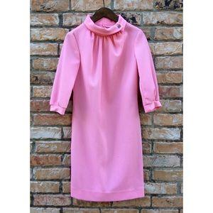 Vintage 1960s pink polyester dress