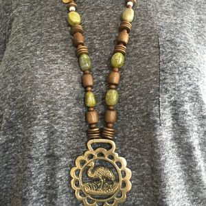 Jewelry - Horse Brass Beaded Necklace