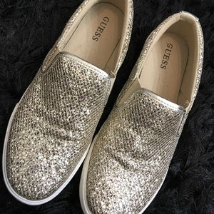 Guess loafers size 8. Gold multi texture.