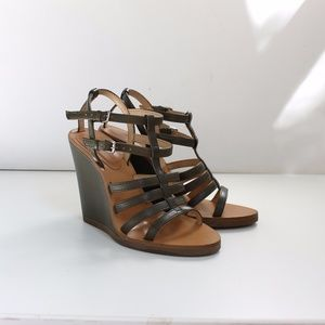 Zara Strappy Wedge High Heels Worn Once