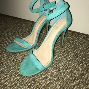 Turquoise Strap Heels
