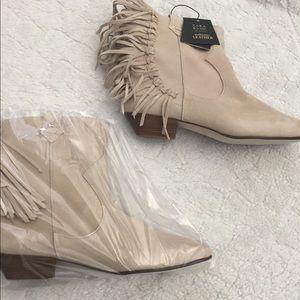New in the box Zara tan booties