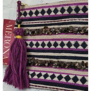 NWT Merona Tribal Clutch Pouch
