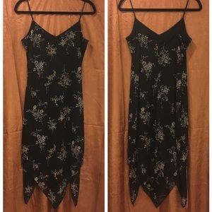 Ralph Lauren Black Strappy Handkerchief-Hem Dress