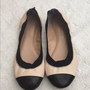Banana Republic Pink and Black flats