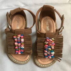 Other - Toddler Fringe Beaded Sandals, like new!