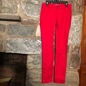 Refuge Red Cotton Skinny Jeans