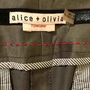 Alice + Olivia Wide Waistband Pants Size 8