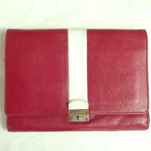 Marc Jacobs red clutch purse wallet authentic