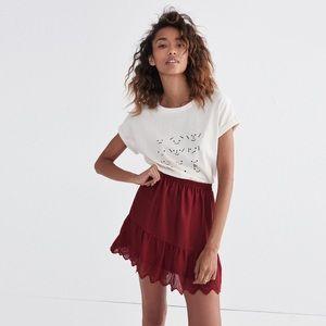 MADEWELL Duskway Eyelet Mini Skirt