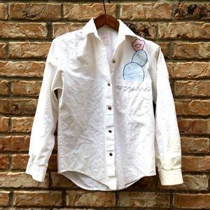 Vintage 1990s Roper prickly pear button down