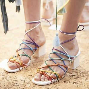 Chloé strappy sandals in rainbow Size 39.5