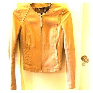 Mackage Beige/Tan Leather Jacket XS
