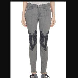 Jbrand christopher Kane Starr Lace gray jeans 28