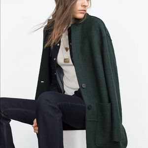 Deep green Zara coat
