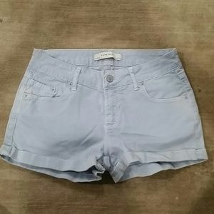 Zara baby blue short shorts