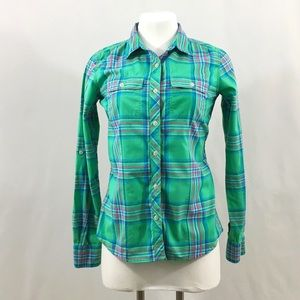 North Face Plaid Button-up