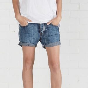 ONE TEASPOON Cobaine Chargers Denim Shorts