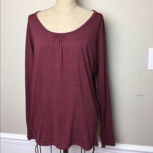 Ella Moss looser fit striped tee shirt