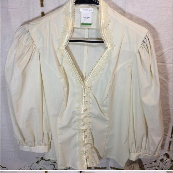Gunne Sax Tops - Size 13 80s/early 90s Gunne Sax blouse BEAUTIFUL