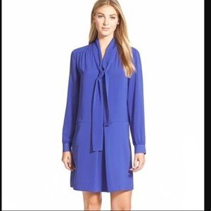 NEW Halogen NORDSTROM Blue Purple Shift Dress