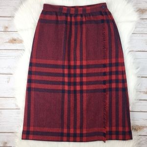 Plaid Knee Length Skirt