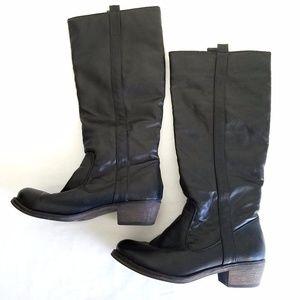 🆕 Diba Black Leather Knee-High Boots