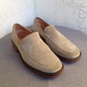 J. Crew Beige Suede Leather Mens Loafers Shoes 7.5