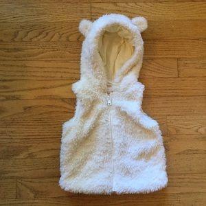 Gymboree Vest Polar Bear Cub Faux Fur Costume