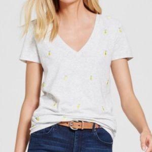 Merona Embroidered Lemon's Tee Shirt