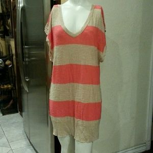 Free People striped long top or dress