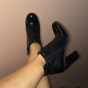 GUESS Black Ankle Boots