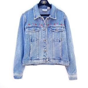 Vintage Paul Harris Embroidered Jean Jacket