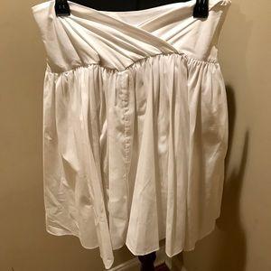 Diane Von Furstenburg White Pleated Full Skirt