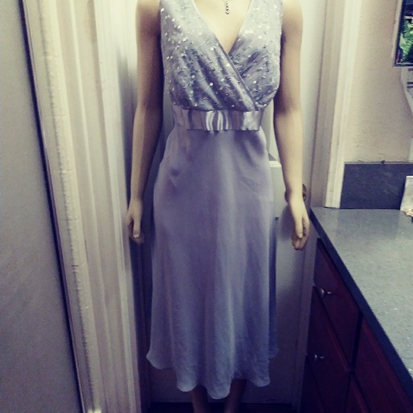 Le Bos Dresses & Skirts - Le Bos Gray/Silver Party Dress