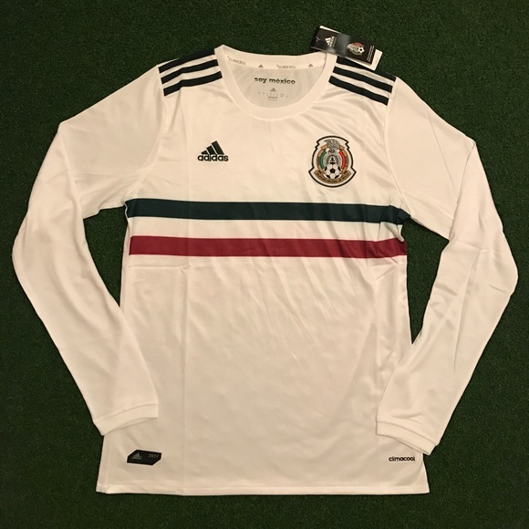 64% off Other - Mexico away Soccer Jersey Long Sleeve 2017 2018 from  Atheltics always s closet on Poshmark. mexican soccer team jerseys 2017  adidas nhl ... f8c42d451