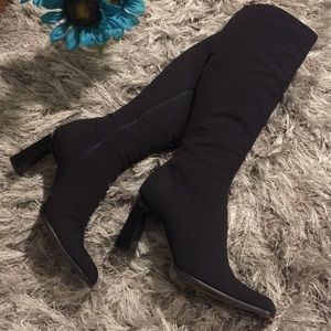 Prada Wove Knee-High Boots free shipping outlet locations v5Jksgk6