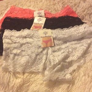 Other - New Panties medium coral,and white black