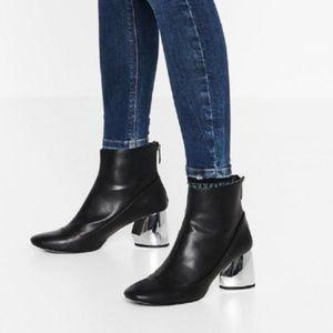Zara Mirror Booties