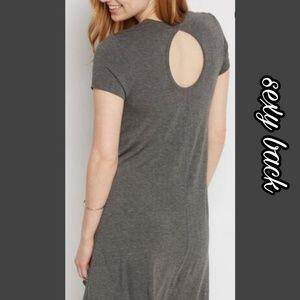 🌟 Heather Gray keyhole cutout swing dress 🌟