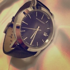 Burberry Leather Men's Watch