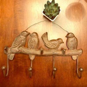 Iron bird holder from Anthropologie
