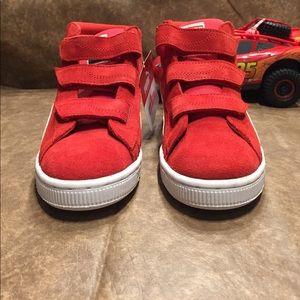 4a7564f6ec3b Puma Shoes - Suede Mid Elmo Puma! Sesame Street Edition!