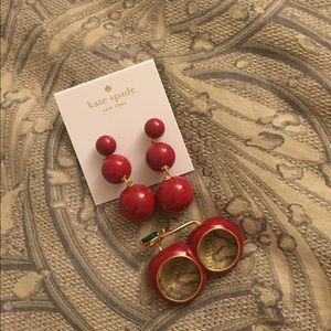 Kate Spade Cherry Ring & Earrings