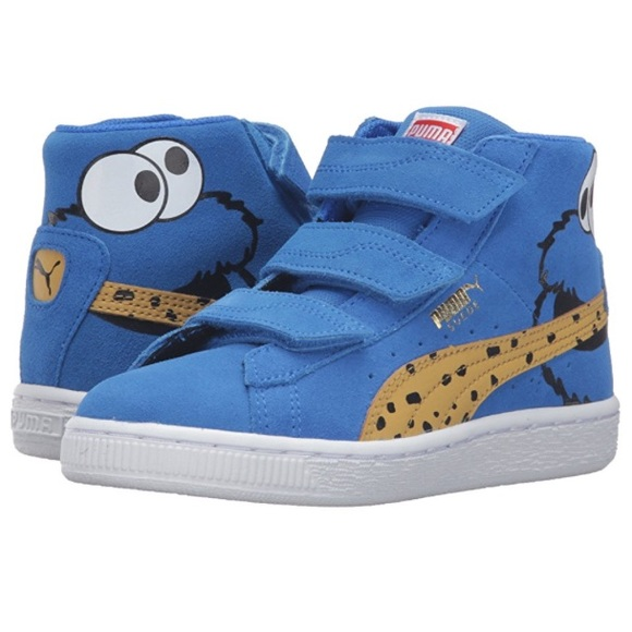 f78be3d69650 Suede Mid Cookie Monster Puma! Sesame St. Edition!