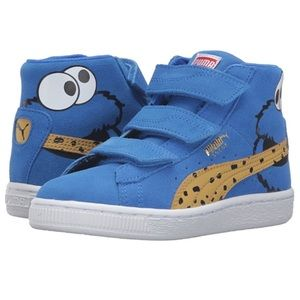 Suede Mid Cookie Monster Puma! Sesame St. Edition!