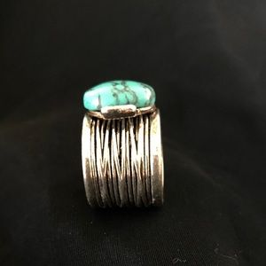 """Turquoise & Sterling Ring Custom """"one of a kind"""""""
