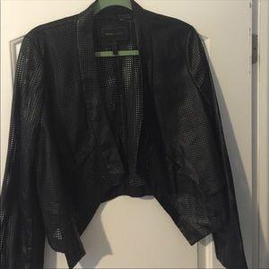 BCBG MAX AZRIA Perforated Leather blazer/ Jacket