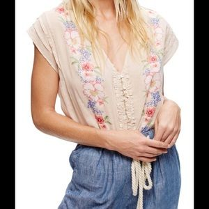 Free People Tops - NWT BLACK Gardenia Print Shirt SELLING IN BLACK